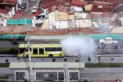 El último incidente se registró a la altura de la estación Molinos oriental en la autopista de Floridablanca.