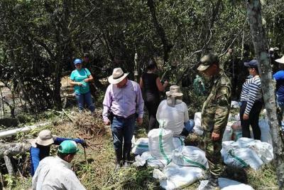 Comunidad, Ejército y Alcaldía unen fuerzas