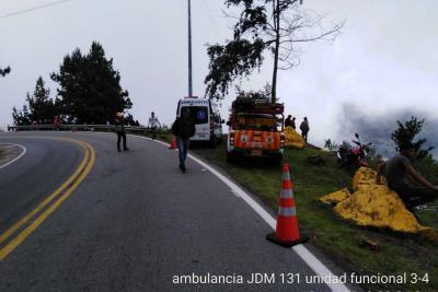 Un muerto dejó accidente de camión que se fue al abismo en la vía Bucaramanga - Pamplona
