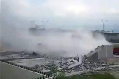 Cinco muertos y 8 desaparecidos tras derrumbe de construcción en México