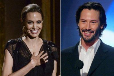 Angelina Jolie y Keanu Reeves estarían saliendo juntos