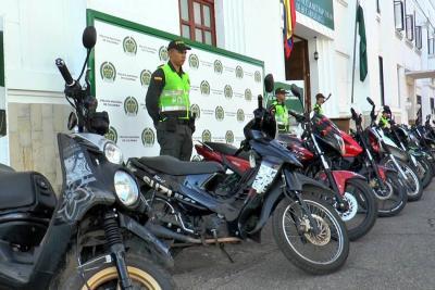 Policía recuperó 22 motocicletas robadas en Bucaramanga y el área