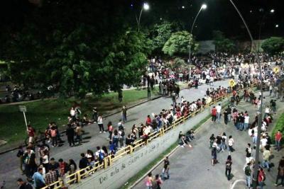 La 'marcha de las antorchas' generó caos vehicular en Bucaramanga