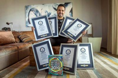 """Luis Fonsi recibió siete récords Guinness por  su canción """"Despacito"""""""