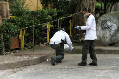 El macabro hallazgo se registró en un parqueadero del sector 6 del barrio Bucarica, en Floridablanca.