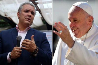 """""""Es un honor para mí reunirme con el Papa Francisco"""": Duque"""