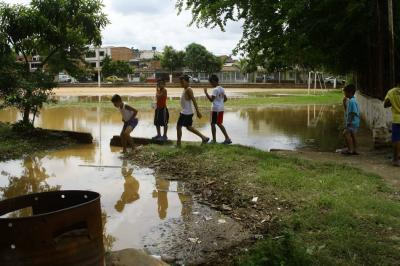 Las canchas de Girón están afectadas por las constantes lluvias