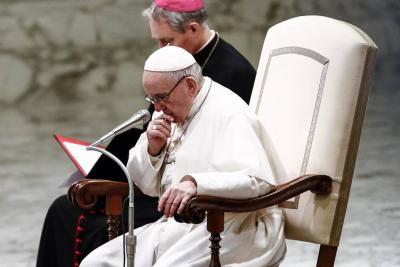 El papa Francisco afirma que es un momento difícil para la Iglesia