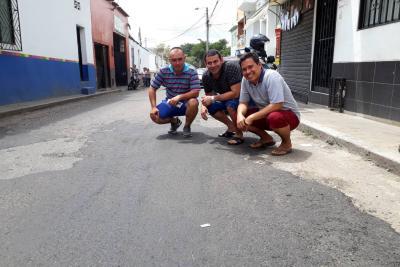 Con las ventas de 140 mutes pudieron tapar varios huecos en Bucaramanga