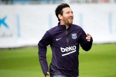 Messi vuelve a entrenarse 11 días después de su lesión