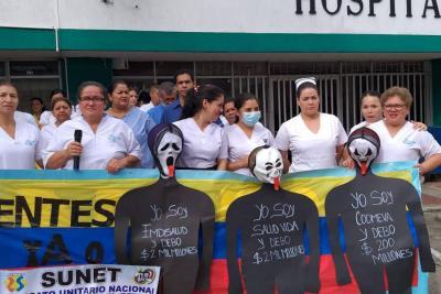 Empleados del Hospital de Floridablanca protestaron porque las Eps no pagan