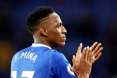 Yerry Mina debutó con el Everton