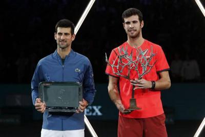 """Djokovic no dio excusas: """"Khachanov fue mejor"""""""