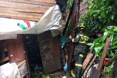 Lluvias de este lunes ocasionaron emergencias en Bucaramanga