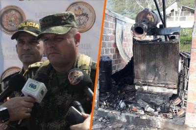 Investigan presunto atentado del Eln en vía entre Guaca y San Andrés, Santander