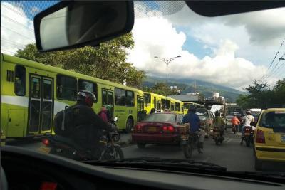 Así fue el monumental 'trancón' en la autopista Bucaramanga- Piedecuesta