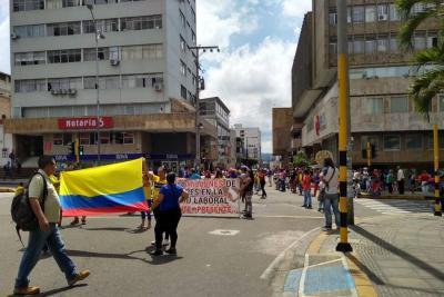 Así fue la marcha del Sindicato de Educadores de Santander