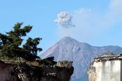 Volcán de Fuego de Guatemala registra su quinta erupción de 2018