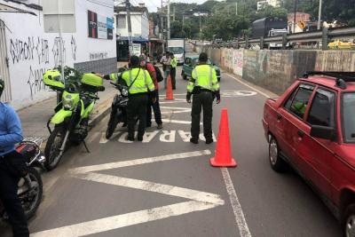 Reforzarán la seguridad vial en Girón con 15 agentes de Policía