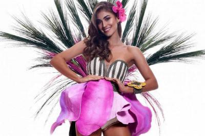 Este es el traje de la señorita Colombia en desfile de fantasía de Miss Universo