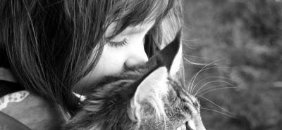 Una gata ayudó a una niña autista de 5 años a convertirse en artista