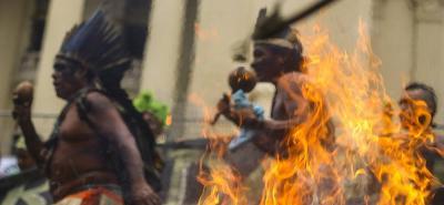 Imágenes de protestas en Brasil contra planes de austeridad del presidente Temer
