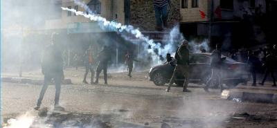 Imágenes de fuertes enfrentamientos entre palestinos y soldados israelíes
