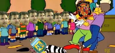 En redes se ríen de la derrota 6-1 de Argentina frente a España