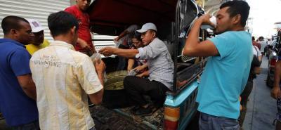 Las imágenes de la caravana hondureña con destino a Estados Unidos.