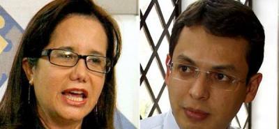 Exdirectora del CTI, Marilú Méndez y exdirector de Fondelibertad, Harlán Henao.