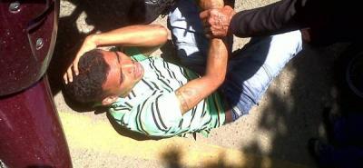 El delincuente fue capturado por personas que vieron el intento de robo.