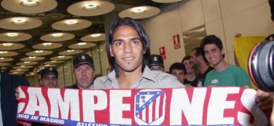 Falcao levanta gran expectativa en su primer entrenamiento con el Atlético Madrid.