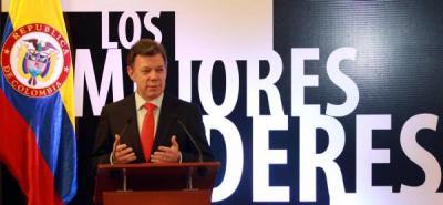 El Gobierno no tiene candidatos: Presidente Santos