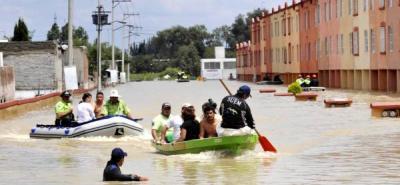 Lluvias dejan a 10.000 familias damnificadas en 40 municipios mexicanos