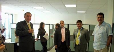 El Procurador General de la Nación visitó las que serán las nuevas oficinas de la Procuraduría Provincial en San Gil.