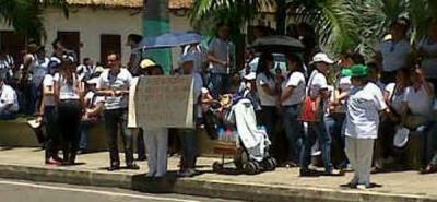 Trabajadores de la salud marcharon en Bucaramanga