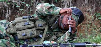 Ejército combate contra las Farc en Caloto, Valle