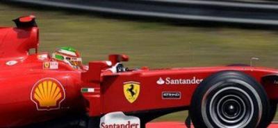 El mexicano Sergio Pérez condujo un monoplaza de Ferrari de 2009