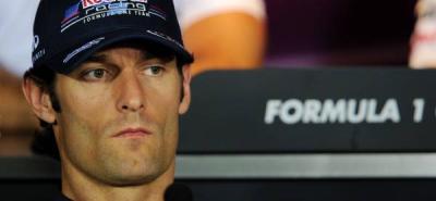 El australiano Webber lideró los terceros ensayos libres en Singapur