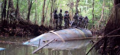Hallan en las selvas del Chocó un 'narcosumergible' de las farc