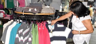 Pese a que todos los sectores presentaron aumento en el consumo, el de vestuario y calzado fue el que menos creció.