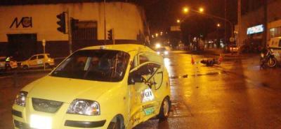 El accidente se presentó a las 2:05 de la mañana de ayer en la carrera 27 con calle 36 de Bucaramanga