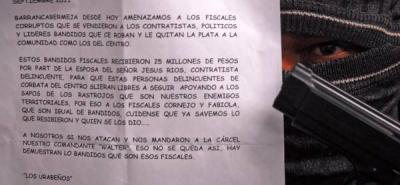 Con panfletos amenazaron de muerte a cinco personas