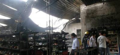 Voraz incendio consumió un supermercado en Piedecuesta