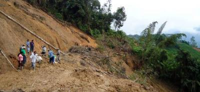 Un campesino murió sepultado por un deslizamiento en El Playón