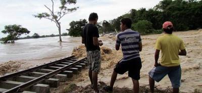 Distrito de riego de Sabana de Torres, socavado por el Lebrija