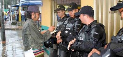 Estudiante de la UIS lideró acto de reconciliación con la Policía
