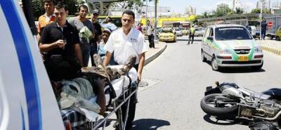 Accidentes de tránsito dejaron dos heridos