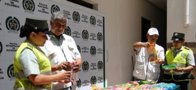 Autoridades incautan en Bucaramanga mil caramelos no aptos para el consumo