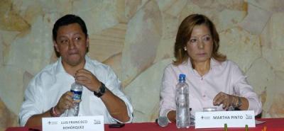 Luis Francisco Bohórquez y Martha Pinto